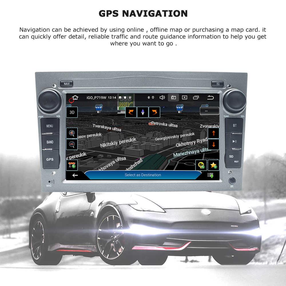 2 DIN Android 10Car DVD Player สำหรับ Opel Vectra C Zafira B Corsa D C Astra H J meriva Vivaro มัลติมีเดียระบบนำทาง GPS วิทยุ