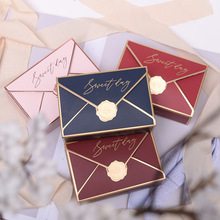 wedding gift candy packaging carton 2017 european creative sugar box wedding celebration products candy box cb5139 European creative envelope candy box Wedding Party Favors Chocolate Paper Gift Box Paper Gift Box Packaging cajas de carton 50pc