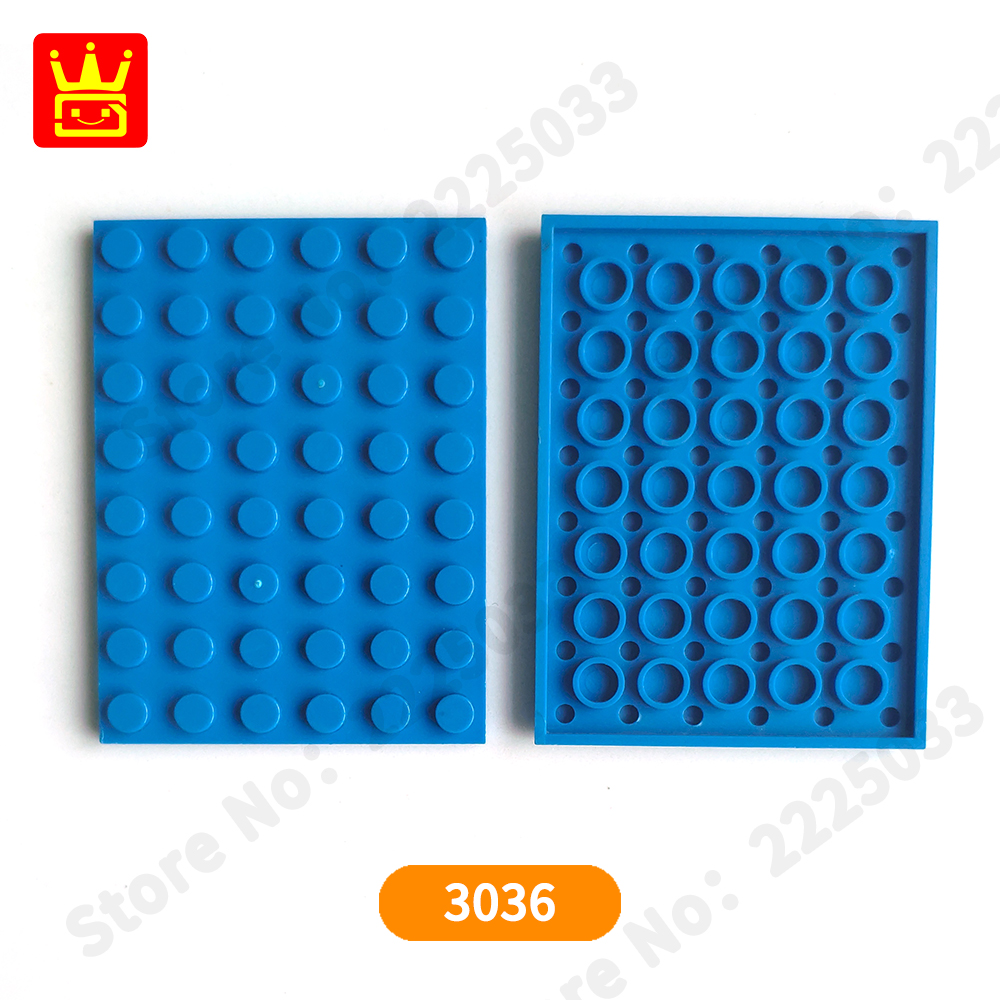 LEGO® Red Plate 6 x 8 Design ID 3036