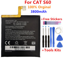 100% Original Replacement battery 3800mah For Caterpillar Cat S60 APP-12F-F57571-CGX-111 batteries Bateria+Gift Tools +Stickers
