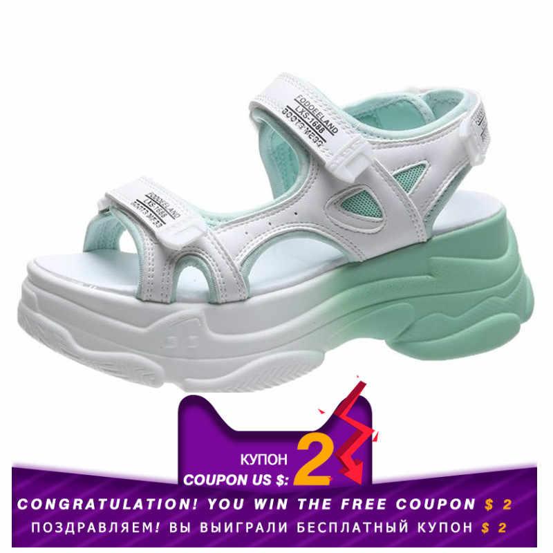 Fujin kadın sandalet rahat ayakkabılar kalın alt nefes bayanlar 2020 slaytlar moda platformu ayakkabı kadın yaz sandalet