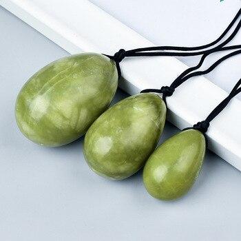 Cuarzo Yoni conjunto de huevos Jade Natural Kegel esfera pélvica piso músculo Kegel ejercicio apretar Vaginal Ben Wa bola masaje piedra