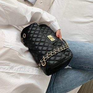 Classic Diamond Pattern Women Plaid Messenger Bag Big Square Female Shoulder Bags Rhombus Lattice Luxury Lady Handbag