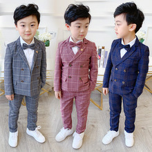 Pants Suit-Set Blazer Wedding-Party-Costume Flower Formal-Dress Boys Kids Children Autumn