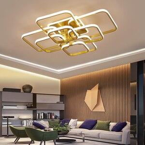Image 2 - Acylic תקרת אורות כיכר טבעות לסלון חדר שינה בית AC85 265V מודרני Led תקרת מנורת גופי זוהר plafonnier
