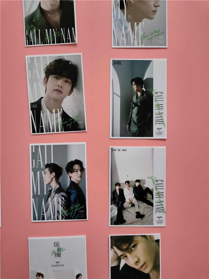 KPOP 16 stks/set GOT7 Nieuwe Album Bel Mijn Naam LOMO Card Photo Kaart Tol JinYoung Mark Jackson YoungJae YuGyeom FH61