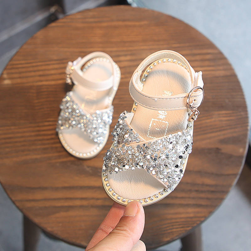 1-3 Years Old Girls Sandals Summer Baby Shoes Rhinestone Princess Baby Sandals Toddler Shoes Baby Shoes