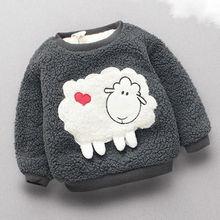 BibiCola/свитер для маленьких девочек; зимний теплый пуловер для малышей; Верхняя одежда для девочек; осеннее бархатное пальто для малышей; Одежда для новорожденных