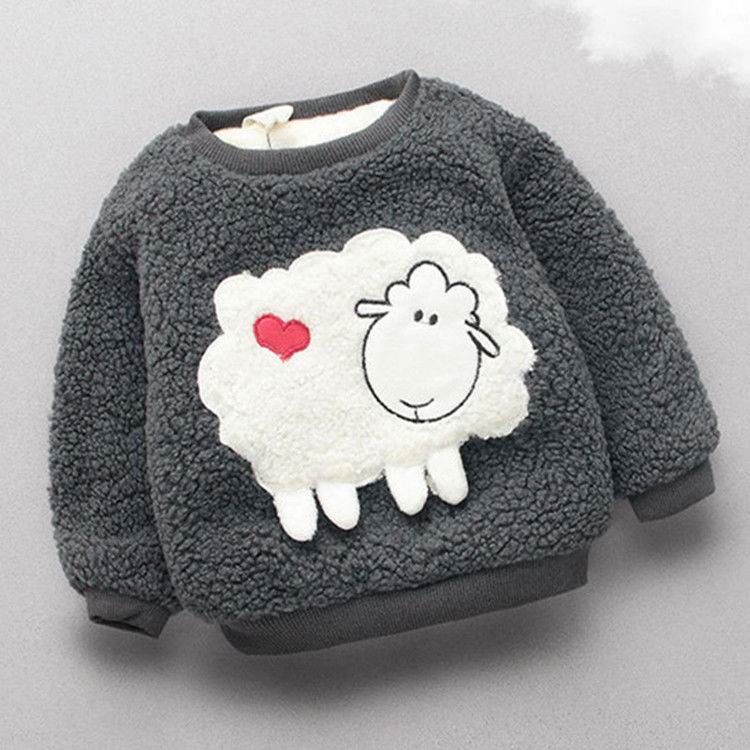 Baby girls sweater hoodies winter infant warm pullover outerwear for girls toddler autumn velvet coats newnorn baby clothes