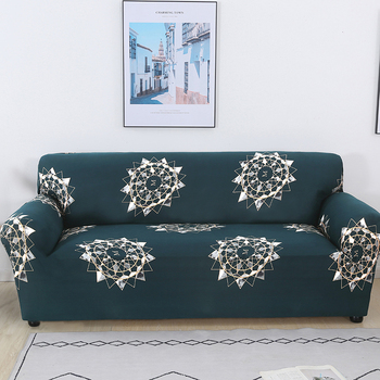 Sofa Covers for Living Room Modern Floral Printed Stretch Sectional Slipcover Polyester L Shape Armchair Couch Case 1/2/3/4 Seat 19