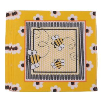 20 sztuk papieru jednorazowe pszczoła serwetki ChristeningTableware dekoracji