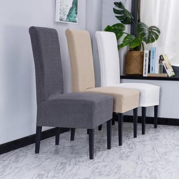 2020 nowe dzianiny Super miękkie pokrowce na krzesła elastan elastyczne pokrowce na krzesła krzesło do jadalni pokrowce na kuchnię bankiet Hotel tanie i dobre opinie homesick CN (pochodzenie) 90 polyester 10 spandex Gładkie barwione MEDITERRANEAN Fotel Ślub krzesło Hotel krzesło