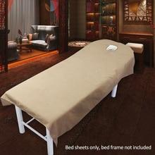 Bed-Sheet Table-Cover Bedding Massage Salon Polyester-Machine Microfiber Washable Plain