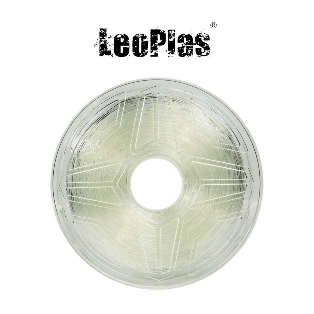 Liquidation vente aux etats-unis espagne entrepôt 1.75mm 1kg Flexible souple translucide caoutchouc TPU Filament 3D imprimante fournitures d'impression