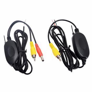2 4G bezprzewodowy nadajnik wideo zestaw odbiornika tylna kamera samochodowa i Monitor DVD ekran rewers Backup kamera wsteczna tanie i dobre opinie Fanxoo CN (pochodzenie) Transmitter 100mW 2468MHz -20-70 degree -93dbm 200mA