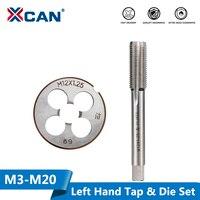 Xcan 2 pçs m3 m6 m8 m10 m12 m14 m16 m18 m20 mão esquerda máquina torneira e morrer conjunto de rosca métrica torneira da máquina de broca plug tap morrer|Ferram. Multifunc.| |  -