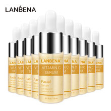 LANBENA Vitamin C Serum Whitening Hyaluronic Acid VC Face Cream Snail Remover Freckle Speckle Fade Dark Spots Anti-Aging 10PCS