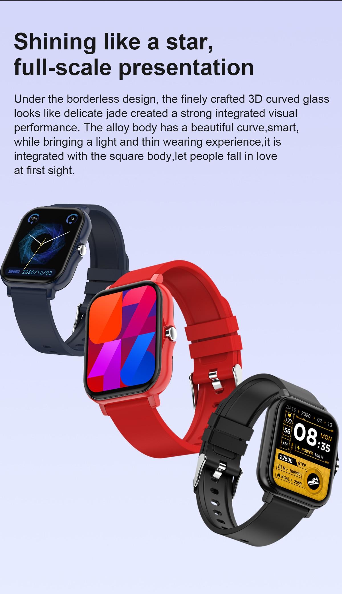 Inteligente watchfitness trackerblood pressuresmartatcheswaterproof monitorbluetooth freqüência cardíaca