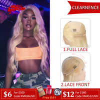 【Clearence】613 Blonde Straight Lace Front Wig 13x6 in 150% Density Brazilian Remy Human Hair Wigs 8-24 Inches Full Lace Wig
