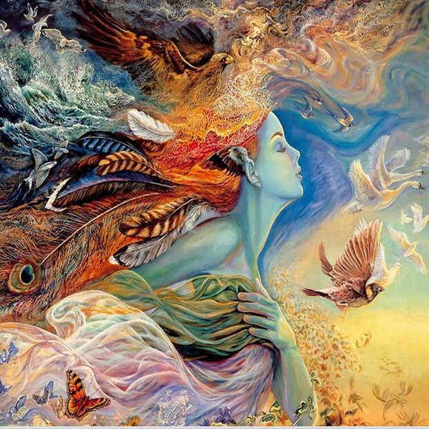 Wellyu papel де parede большой росписи обои бесшовные 3D Сказочный Ангел фантазия фон живопись картины прихожая