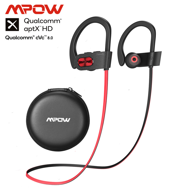 Mpow Newest Flame S Bluetooth 5.0 Wireless Sports Earphones CVC 8.0 Noise Cancelling Aptx-HD Sound IPX7 Sweatproof 12h Playtime