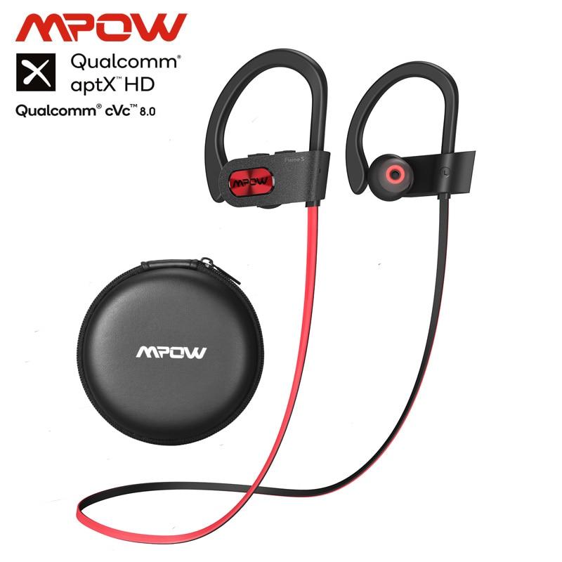 Mpow Newest Flame S Bluetooth 5.0 Wireless Sports Earphones CVC 8.0 Noise Cancelling Aptx-HD Sound IPX7 Sweatproof 12h Playtime