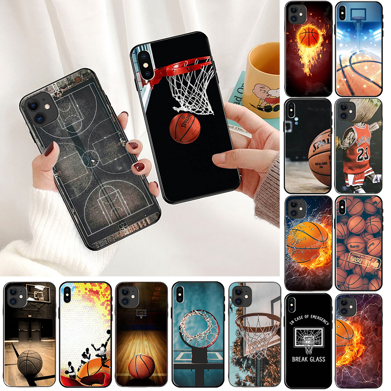 Basketball basket Colorful Cute Phone Accessories Case for Apple iPhone 8 7 6 6S Plus X XS MAX 5 5S SE XR 11pro max Cover
