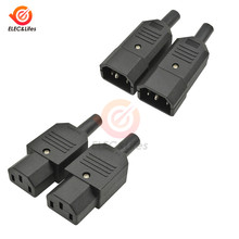 5Pcs AC-013A Männlich-weibliche Power Steckdose AC 250V 10A Weibliche Power Adapter 3 Terminals IEC320 C13 AC power Stecker