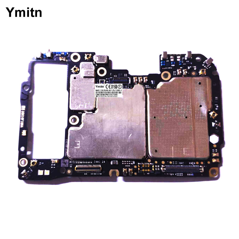 Ymitn Unlocked Main Mobile Board Mainboard For Xiaomi 9 Mi9 M9 Mi 9 Motherboard With Chips Circuits Flex Cable Globle ROM 6GB