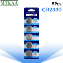 цена на MJKAA 5PCS CR2330 Button Batteries Lithium 3V CR 2330 BR2330 ECR2330 Coin Cell Battery for Watch Electronic Toy Remote