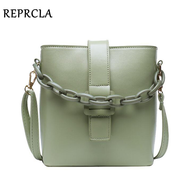 New Designer Bucket Women Bag Chain Handbags PU Leather Shoulder Bag Fashion Female Crossbody Bags