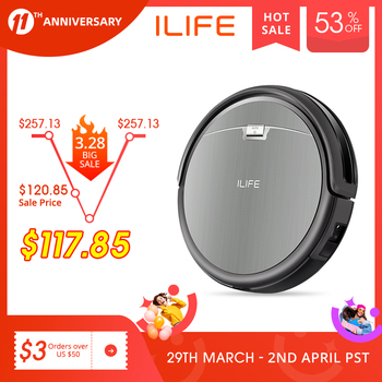 ILIFE A4s Robot Vacuum Cleaner Powerful Suction for Thin Carpet & Hard Floor Large Dustbin Miniroom Function Automatic Recharge 1
