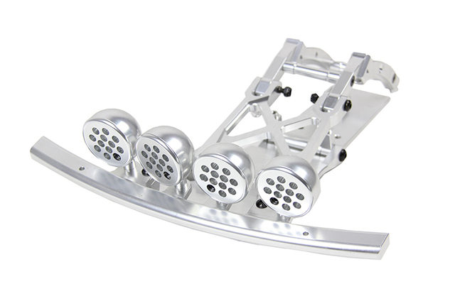 Alloy CNC Front or Rear Bumper with Front LED Light Pod Kit Fit for 1/5 HPI ROFUN ROVAN KM BAJA 5T 5SC RC CAR Toys PARTS