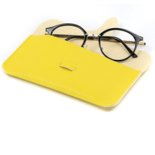 Kpay Unique PU Leather Glasses Bag 2019 New Design Retro Eyeglasses Buckle Women Sunglasses Storage Protection Ins  Eyewear Case