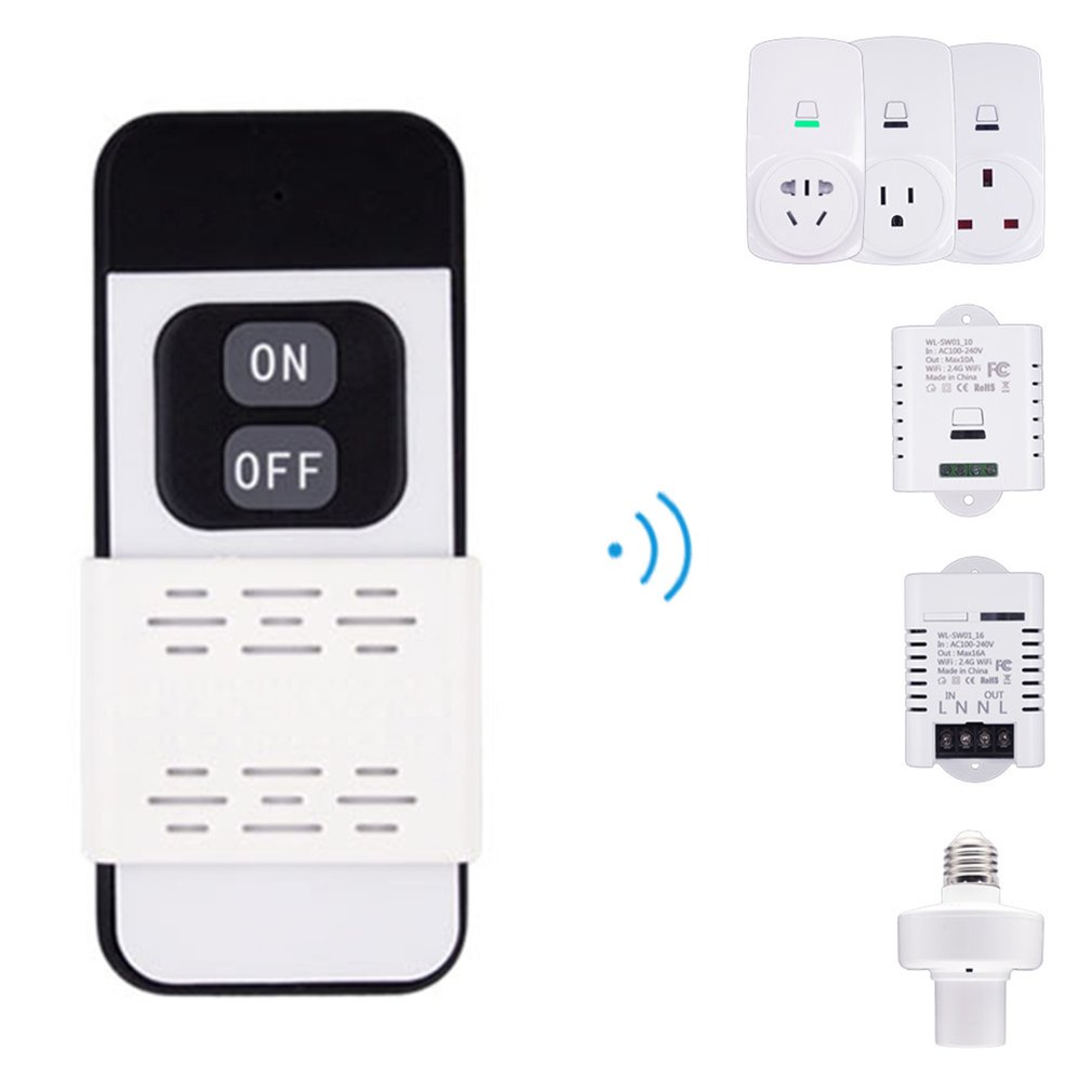 Smart Plug 10A Wifi Wireless Smart Power Monitor EU AU UK US Plug Socket Outlet Switch For ECHO For ALEXA For GOOGLE Socket