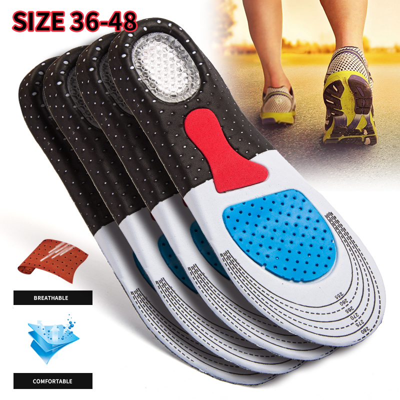 Men&Women's Fashion Silica Gel Insoles Orthotic High Arch Support Sport Running Shoes Insoles(35-46)  Unsishoe Insole
