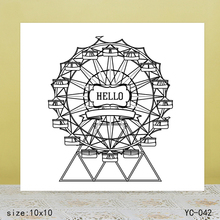 ZhuoAng Ferris wheel Clear Stamps For DIY Scrapbooking/Card Making Decorative Silicon Stamp Crafts