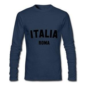Image 4 - T חולצות גברים ITALIA רומא 2020 חדש הגעה סתיו חורף בגדי יוקרה ארוך שרוול זכר חולצת טי וספה ברצלונה כדורגל חולצה