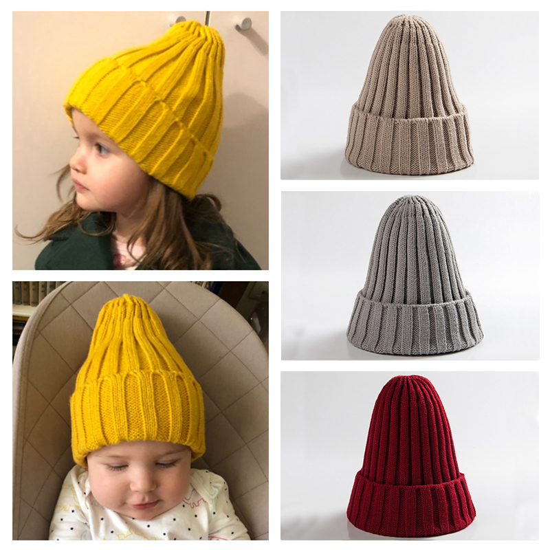 Knitted Kids Beanie Cap Infant Baby Boy Girl Hat Warm Children Baby Autumn Winter Girls Hat For Kids Toddler Muts Bonnet Enfant