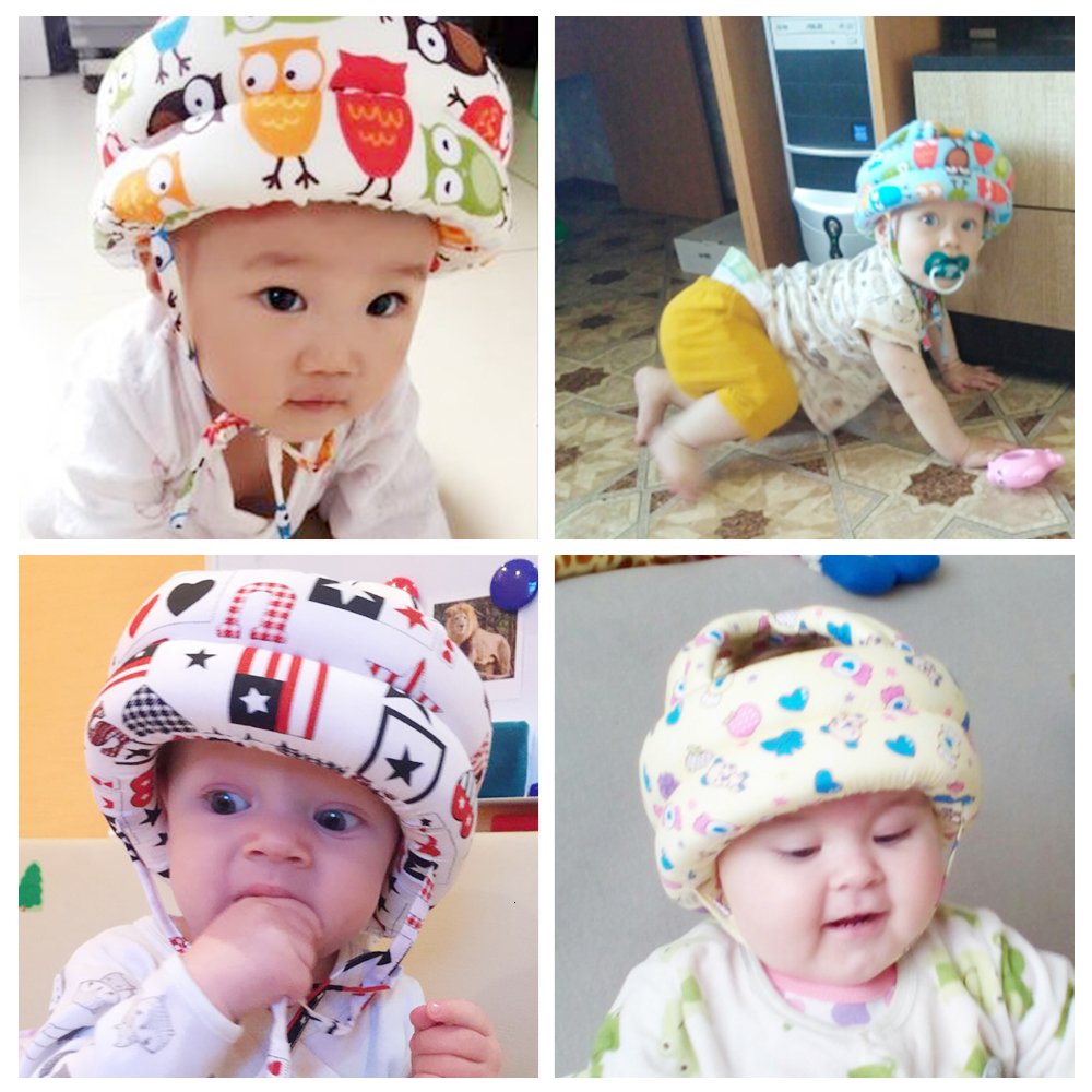 Baby Toddler Cap Children's Hat Baby Hat Anti-collision Protective Hat Baby Safety Helmet Soft Comfortable Adjustable Hat
