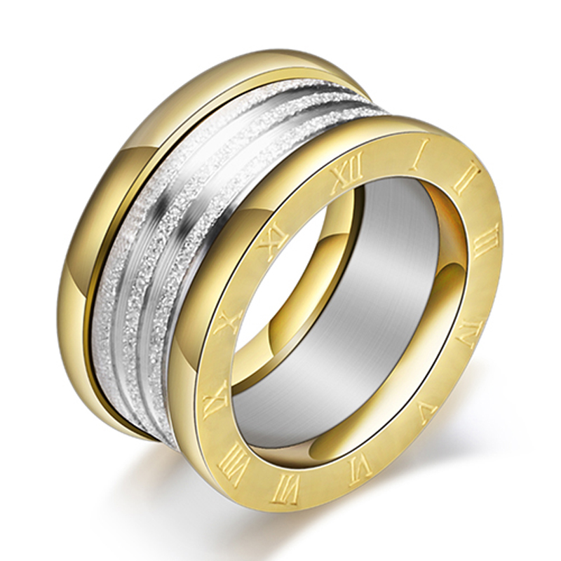 Antique Retro Stainless steel Rings For Women Men Jewelry Anillos Engagement Wedding Bague Homme Party Accessories Vintage 4
