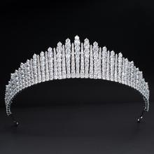 2020 Design Cubic Zirconia Princess Tiara Diadem for Bridal Wedding Hair Jewelry Accessories Hairpieces CH10345