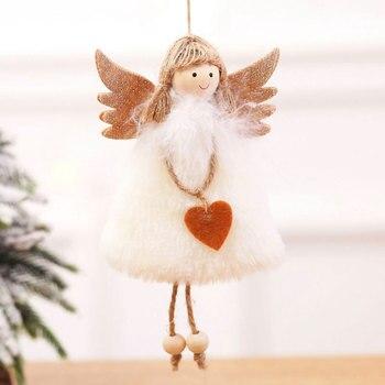 2020 New Year Latest Christmas Angel Dolls Cute Xmas Tree Ornament Noel Deco Christmas Decoration for Home Navidad 2019 Kid Gift 1