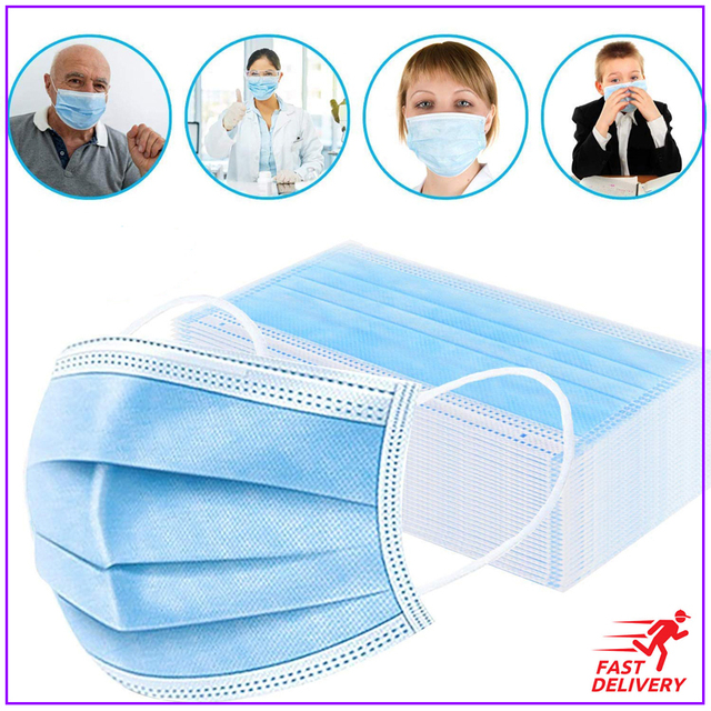 10/20/50Pcs/Bag Black Mouth Mask Disposable Cotton Mouth Face Masks Anti-Dust Mask Earloop Activated Black/Blue/white/Green flu 2
