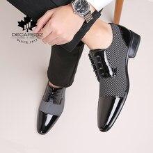 DECARSDZ Men Dress Shoes For Men 2021 Spring Autumn Fashion Formal Suit Shoes Man Brand Leather Wedding Party Style Men Shoes