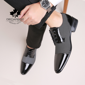 New Formal leather Shoes Men Dress Shoes Brand Office Fashion Shoes Male design luxury Footwear high quality office Men Shoes