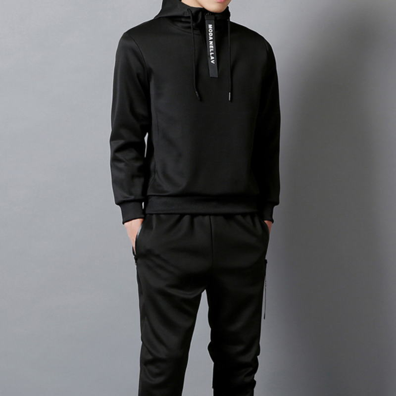 Casual tracksuit Set Men Fashion 2019 Jogger Sports Sportswear Suits Spring Autumn Two Pieces Hoodies Pants Set Male Sweat Suit