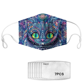 Funny Cheshire Cat Smile Print Mouth Cover Mask Resuable Macka PM 2.5 Filter Mascarilla New Arrival Anti-Dust Uv Protection Mask