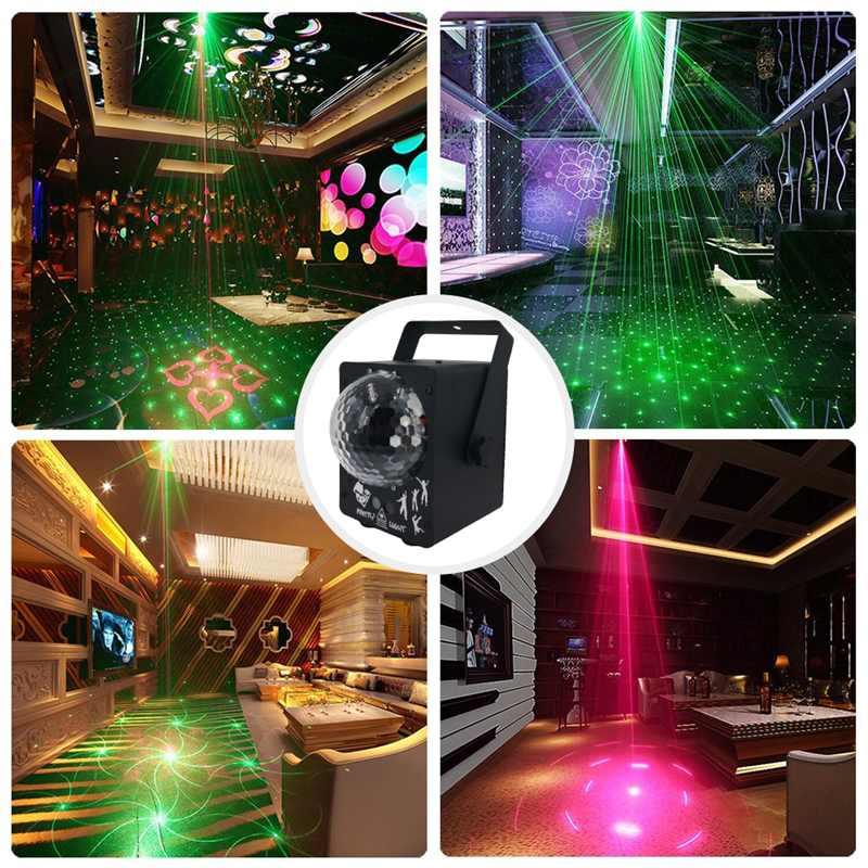Işıklar ve Aydınlatma'ten Sahne Aydınlatması Efekti'de Disko ışık RGB projektör uzaktan kumanda parti ışıkları DJ aydınlatma etkisi dans ev düğün dekorasyon Bar renkli gece lambası