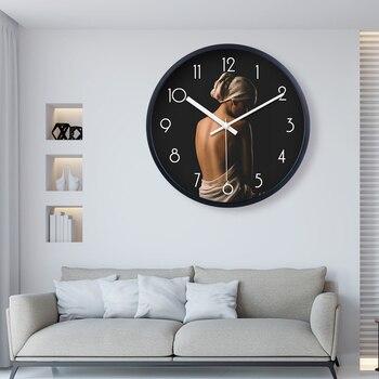Beauty Salon Wall Clock Metal Clocks Home Decor Creative Health Preserving Individual Modern Silent Clock Decor Modern CC50WC